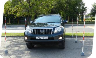 Уроки вождения на Toyota Land Cruiser Prado акпп