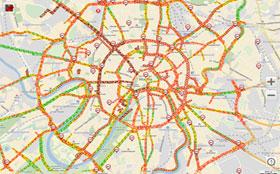 В Москве снова «бесчинствуют» 10-бальнные пробки